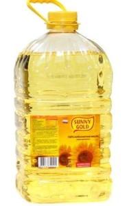 Санни Голд рафинированное подсолнечное масло 5л